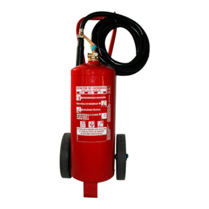 Carro de extintor de polvo ABC de 25kg