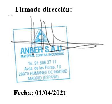 firma de la política de Calidad de ANBER