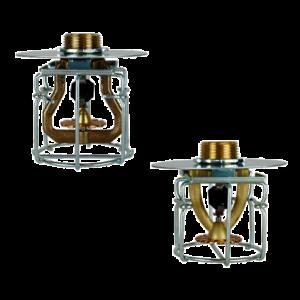 Jaula con placa para sprinklers ESFR colgantes modelos K22 y K25