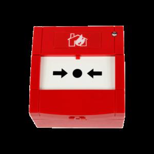 Pulsador de alarma rearmable convencional