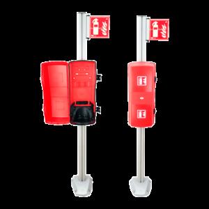 sistema de columna con armario extintor