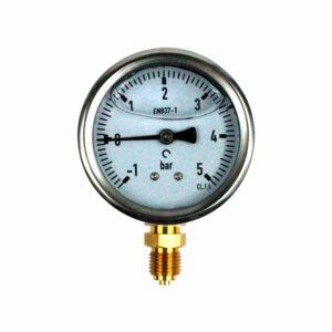Manovacuómetro con glicerina de INOX